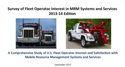 2013-14 Survey of Fleet Operator Interest in MRM Systems and Services